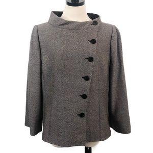 Armani Collezioni Wool Tweed Asymmetrical Jacket